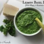 Lemon Basil Pesto {Nut-Free & Gluten-Free}