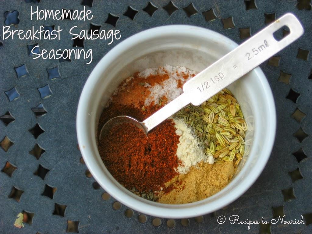 Homemade Breakfast Sausage Seasoning - Recipes to Nourish
