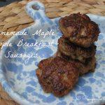 Homemade Maple Apple Chicken Breakfast Sausages