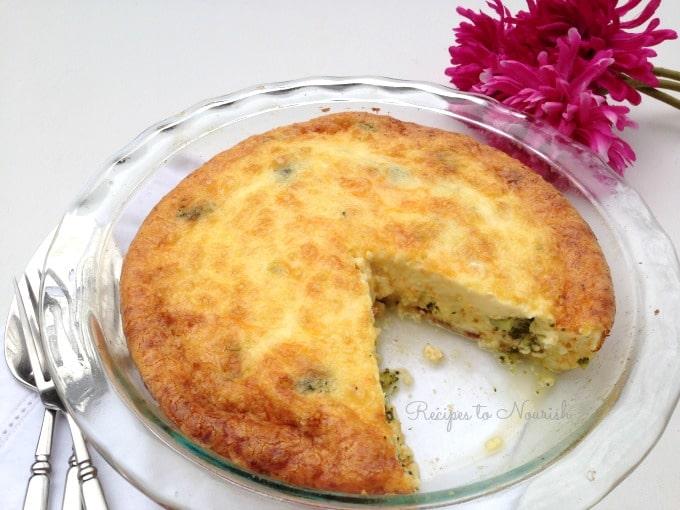 Broccoli and Bacon Quiche || Recipes to Nourish