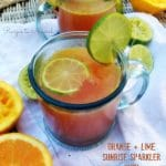 Orange and Lime Sunrise Sparkler with Ginger and Raspberry Kombucha | Recipes to Nourish