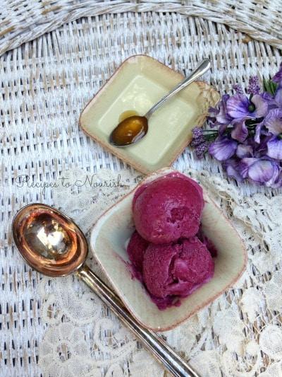 Blackberry Honey Ice Cream | Recipes to Nourish