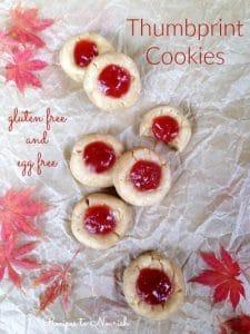 Gluten Free Thumbprint Cookies | Recipes to Nourish