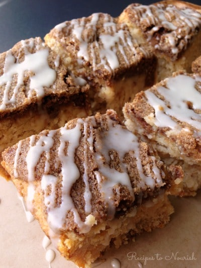 Grain Free Sour Cream Coffee Cake ... perfectly moist and delicious, this real food coffee cake is total comfort food, easy to make and sure to impress. | Recipes to Nourish