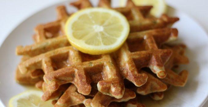 Zucchini Lemon Waffles {Grain Free}