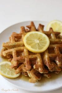 Zucchini Lemon Waffles | Recipes to Nourish