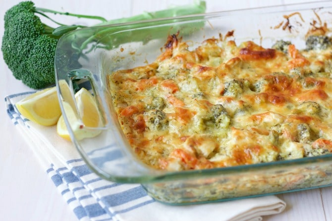 (Ad) This Healthy Chicken Broccoli Casserole is a delicious comforting classic. It's so easy to make, packed with protein, loaded with broccoli and full of vibrant herby aromatics. It has a special real food secret ingredient too and bakes up beautifully in less than an hour. | Recipes to Nourish
