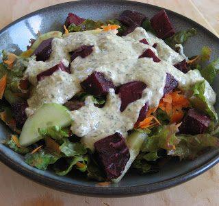 Creamy Herb Salad Dressing {vegan}