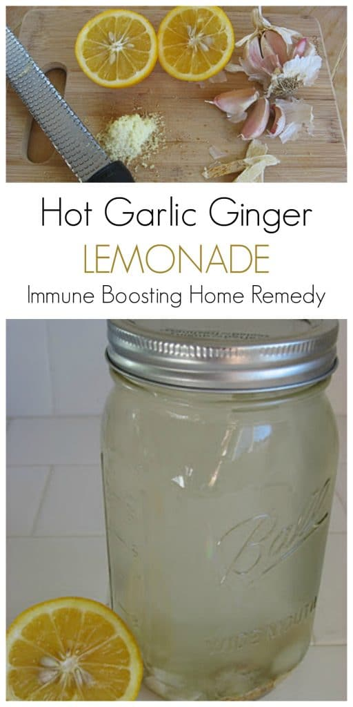 Hot Garlic Ginger Lemonade ... a wonderful, warming, natural remedy that helps support the immune system. Perfect drink for the colder months. | Recipes to Nourish