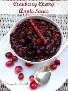 Cranberry Cherry Apple Sauce ... skip the canned cranberry sauce and make this amazing homemade version instead. #realfood #nosugar | Recipes to Nourish