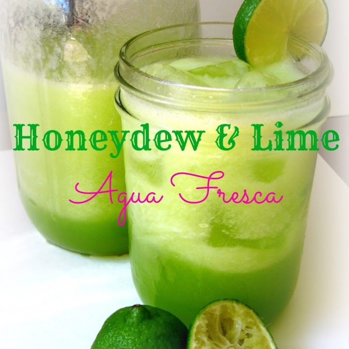 Honeydew Lime Agua Fresca {Honey Sweetened + Coconut Water}