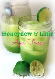 Honeydew & Lime Agua Fresca | Recipes to Nourish