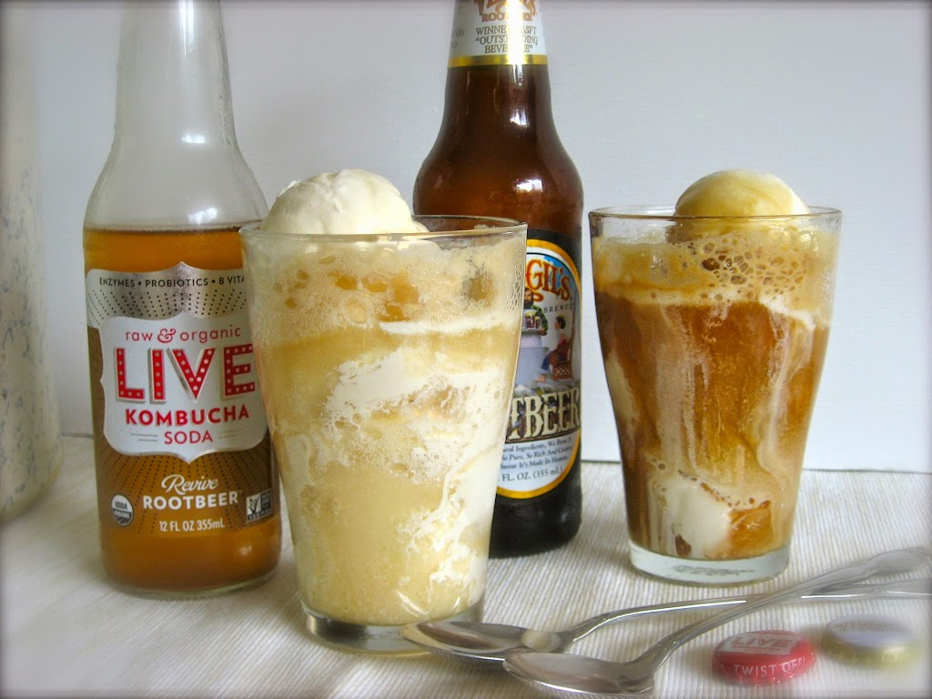 Real Food Root Beer Float ... scoops of vanilla ice cream floating in bubbly root beer ... there's nothing like the classic soda fountain Root Beer Float. | Recipes to Nourish