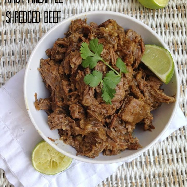 Slow Cooker Tangy Pineapple Shredded Beef