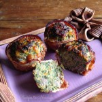 Bacon-Wrapped Spinach Cheese Stuffed Mini Meatloaves
