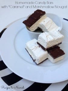 Homemade Candy Bars with Caramel and Marshmallow Nougat | Recipes to Nourish