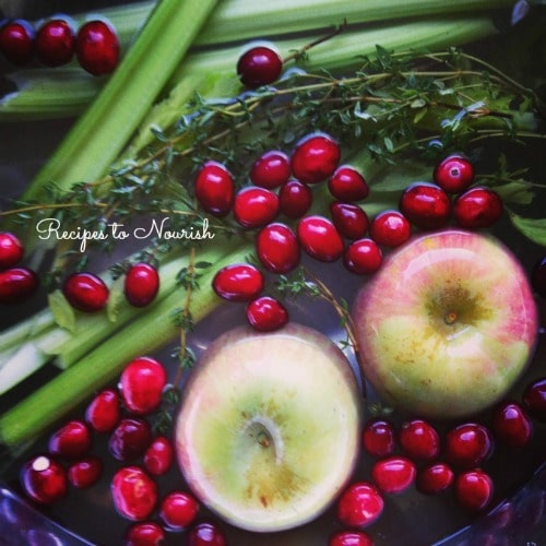 Homemade Cornbread Stuffing with Apples, Cranberries & Thyme   Recipes to Nourish