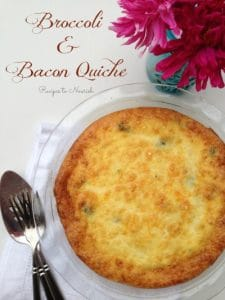 Broccoli and Bacon Quiche {Grain Free} | Recipes to Nourish