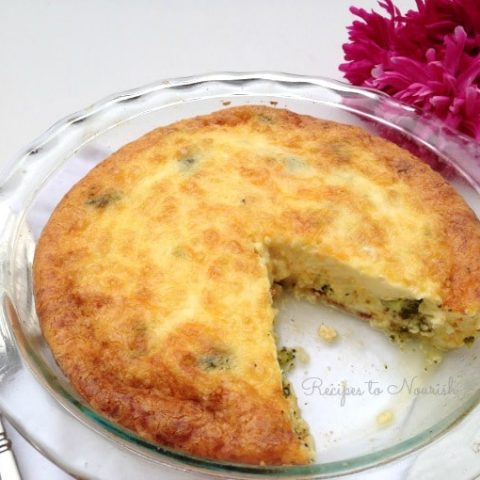 Broccoli and Bacon Quiche {Grain Free}