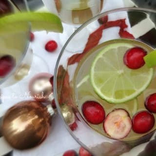 Cranberry and Lime Kombucha Sparkler: A Festive Holiday Mocktail