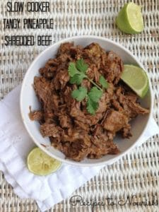 Slow Cooker Tangy Pineapple Shredded Beef | Recipes to Nourish