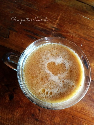 This real food Nourishing Honey Sweetened Hot Chocolate ischocolaty and comforting like the old fashioned kind we allgrew up with. This version has lots of optional, wholesome and healthy add-ins. | Recipes to Nourish