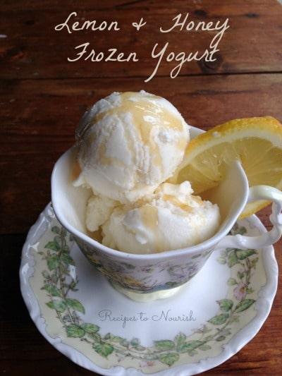 Lemon & Honey Frozen Yogurt | Recipes to Nourish