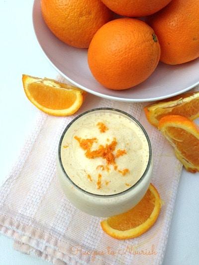Orange Creamsicle Smoothie |Recipes to Nourish