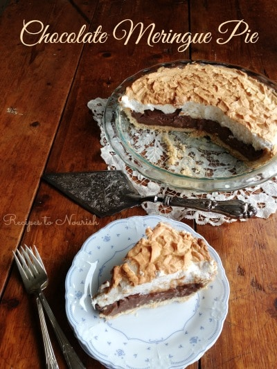 Chocolate Meringue Pie | Recipes to Nourish
