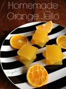 Homemade Orange Jello | Recipes to Nourish