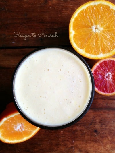 Orange Tropical Turmeric Smoothie | Recipes to Nourish