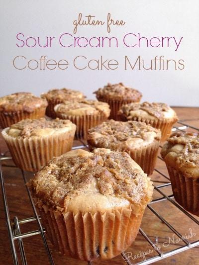 Sour Cream Cherry Coffee Cake Muffins | Recipes to Nourish