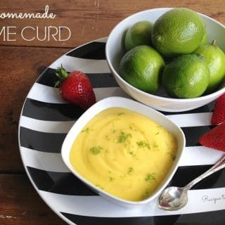 Homemade Lime Curd