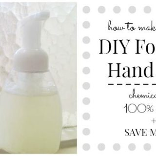 Money Saving DIY Foaming Hand Soap