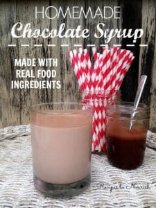 Homemade Chocolate Syrup | Recipes to Nourish