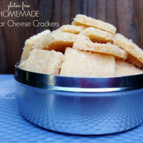 Homemade Cheddar Cheese Crackers - Gluten Free