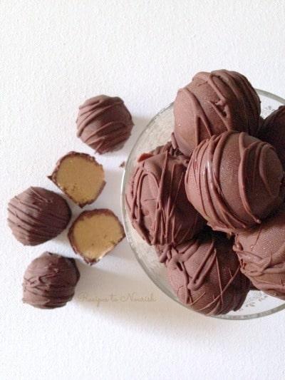 Chocolate peanut butter truffles.