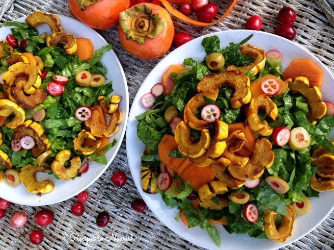 Delicata Squash with Persimmons and Cranberries | Recipes to Nourish