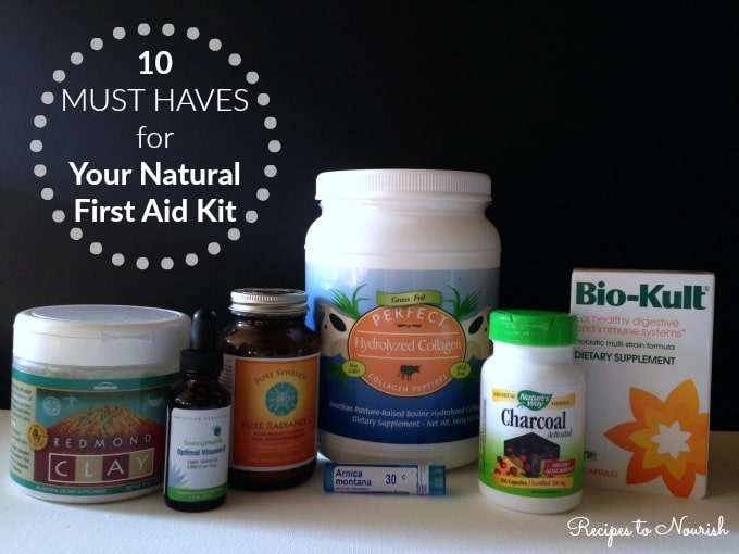 10 Must Haves for Your Natural First Aid Kit ... it's a good idea to have some simple + basic essentials in your first aid kit, just in case. | Recipes to Nourish