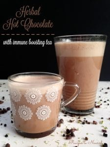 Herbal Hot Chocolate with Immune Boosting Tea | Recipes to Nourish