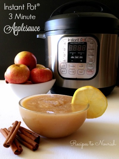 Instant Pot Applesauce in 3 Minutes! If you love applesauce, you've ...