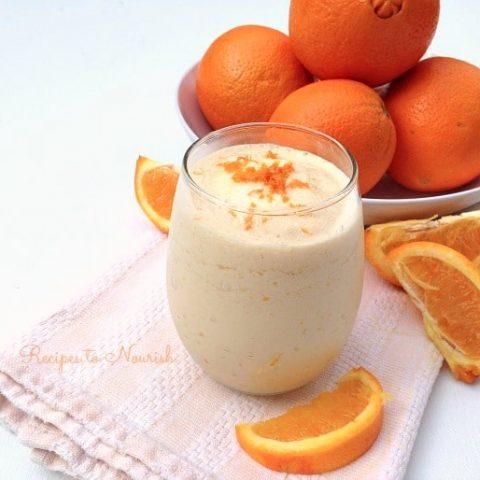 Real Food Orange Creamsicle Smoothie