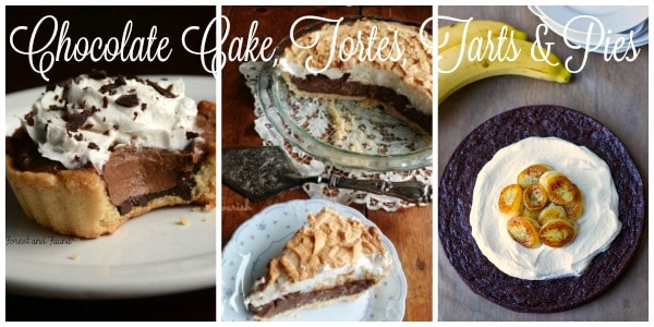 Chocolate Cake, Tortes, Tarts & Pies