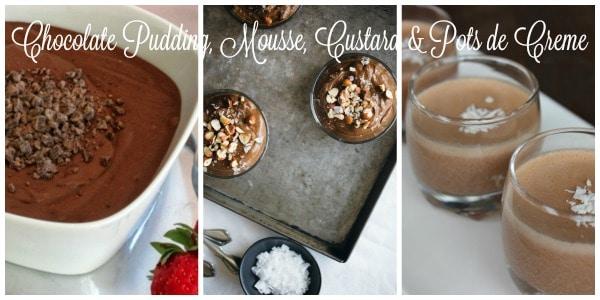 Chocolate Pudding, Mousse, Custard & Pots de Creme