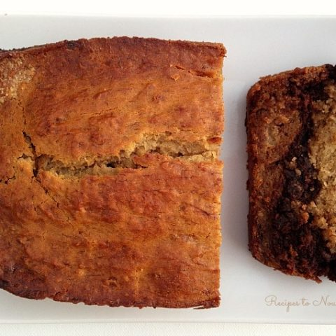 Grain Free Chocolate Swirl Banana Bread