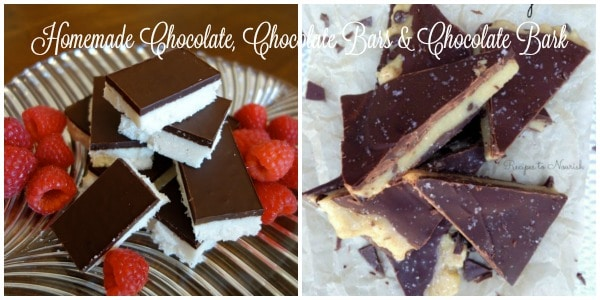 Homemade Chocolate, Chocolate Bars & Chocolate Bark