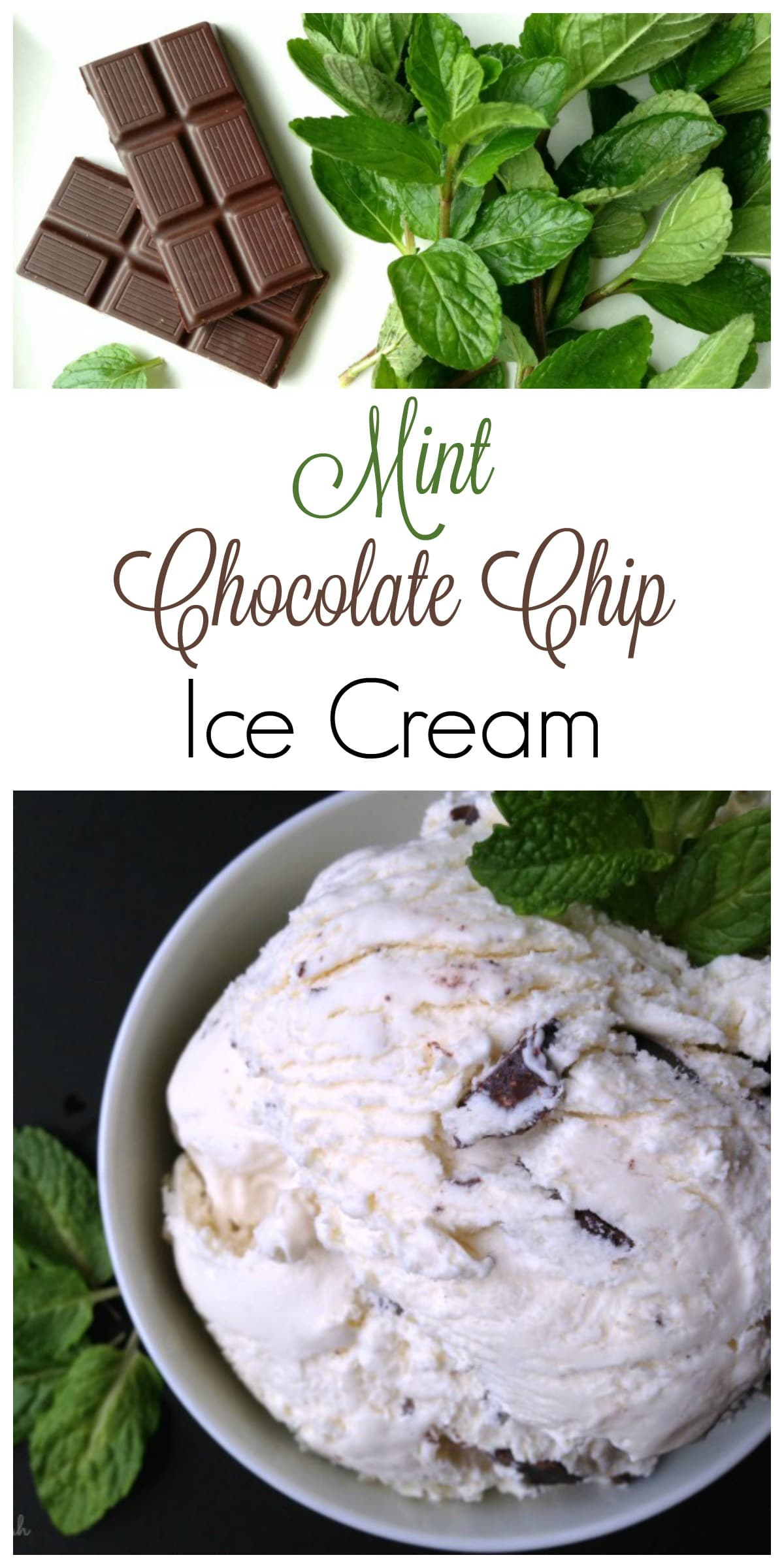 Mint Chocolate Chip Ice Cream ... full of shaved and chunked quality organic chocolate. It's so refreshing and absolutely delicious! | via Recipes to Nourish // Healthy Ice Cream Recipe | Gluten Free Recipe