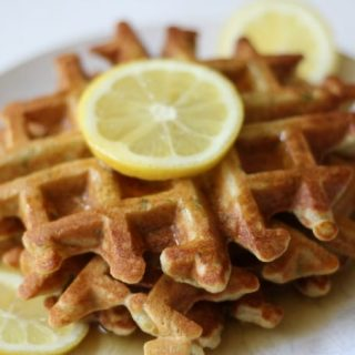 Grain Free Zucchini Lemon Waffles