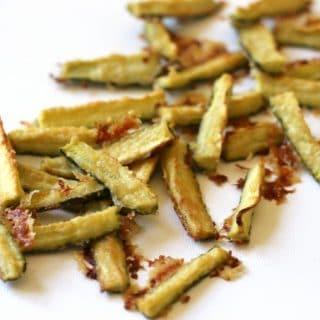 Garlic Zucchini Fries {Grain Free}