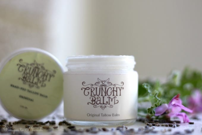 (ad) Crunchy Balm Tallow Balm Skin Care is THE best natural addition to your daily routine. This healing, whole food, nourishing balm is better than any store-bought lotion or cream. | Recipes to Nourish